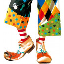 Paar Clown Schuhe in Latex - für Kinder / u