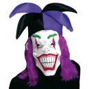 grossiste Jouets: Masque joker avec le chapeau et la perruque - po