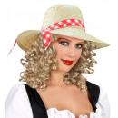 «Fille chapeau de paille de l'agriculteur avec