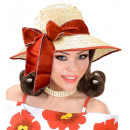 wholesale Toys:  straw chicago hat  with satin ribbon  4 colors ass