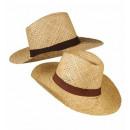 grossiste Jouets:  chapeau safari  paille  2 couleurs ass., taille de
