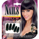 wholesale Manicure & Pedicure:  black extra long  nails  set of 15- with 30 adhesi
