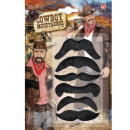 grossiste Jouets:  Set de 6  moustaches de  cow-boy  - pour ...