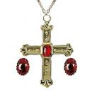 Set cardinale  (collana con croce, 2 anelli) - f