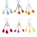 groothandel Woondecoratie: Gevederde dreamcatcher ketting 6 kleuren ...