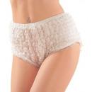weißer Spitze Panty 3 Größen ass., Größe: 2x (S)