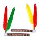 groothandel Speelgoed:  Native indian  hoofdband met 2 veren  2 kleuren