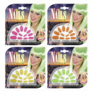 wholesale Manicure & Pedicure:  neon nails  set  of 12 - with 24 adhesive tabs - 4