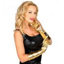Großhandel Spielwaren: Paar Gold Metallic Handschuhe 40 cm, ...