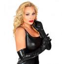 guantes de vinilo negro , 56 cm Tamaño: (un tamañ
