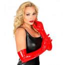 Red Vinyl-Handschuhe 56 cm, Größe: (One ...