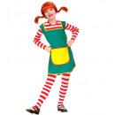 Großhandel Spielwaren: freches Mädchen (Kleid), Größe: (116 cm / 4-5 Ja