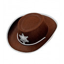 wholesale Toys: brown cowboy hat felt - for boys