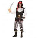 wholesale Costume Fashion:  pirate man  (coat  with jabot, pants, belt, boot c