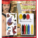 temporary tattoo make-up kit  6  styles assorted