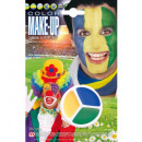 Carnevale & sportfans tricolore make-up in va