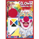 ingrosso Giocattoli:  Clown make-up set  con il naso  - per i bambini /