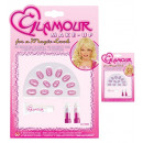glamour lipsticks, glitter gel & nails set 2 col