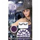 wholesale Ironmongery:  purple metallic  nails + black eyelashes + purple