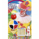 Clown make-up set: wit crème make-up + 5 make-u