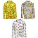 groothandel Woondecoratie: hippie bloemoverhemd velvet - 3 stijlen ...