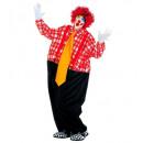 Fat clown (draad hoepel jumpsuit, bretels, maxi