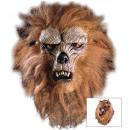 Weerwolf half-face masker met haar en bont  2 sti