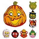 mascherina felice di halloween plastica - assort