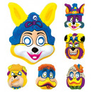 wholesale Scarves, Hats & Gloves: comics animals masks plastic - 6 styles assorted