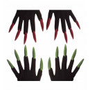wholesale Ironmongery:  scary gloves with  maxi glitter nails  2 colors as
