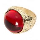 groothandel Accessoires & Onderdelen:  Gouden ring met  rode gem  - voor volwassenen / un