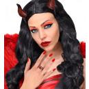 Skulls ring met  rode gem  - voor vrouwen