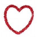 st. valentine's day embossed tinsel heart 27x27