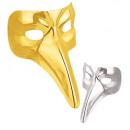 maschera veneziana  plastica - Gold & Silver