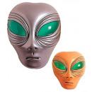 grossiste Cadeaux et papeterie:  masque  alien  plastique - 2 couleurs ass. - Pour