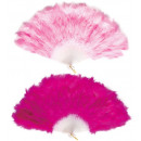 feather fan  hot  & soft pink assorted -  for wome