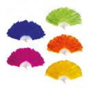Federfächer 5 Farben sortiert: 3 Flieder, 3 blau