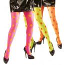 Großhandel Fashion & Accessoires:  Neon Blumen  Strumpfhosen  40 den - 3 Farben assor