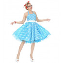 the 50s fashion (dress with petticoat, belt), Si