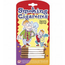 smoking cigarettes  set of 5