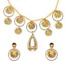 grossiste Chaines: ensemble gipsy (collier, boucles d'oreilles)