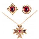 Set di Dracula  (collana con medaglione, 2 anelli