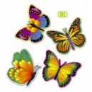 wholesale Toiletries:  neon butterflies   32 cm - 4 styles assorted - set