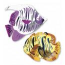 grossiste Cadeaux et papeterie:  3d métallique  poissons  tropicaux  40x34 ...