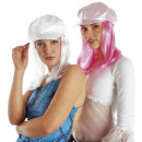 wholesale Working clothes:  fashion cap with  wig  2 colors assorted: white, p