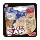 Großhandel Kopfbedeckung:  Pailletten Mode  cap  4 Farben sortiert: gold, sil