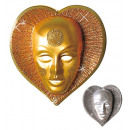 wholesale Toys: glitter heart mask plastic - 2 colors assorted,