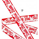 wholesale Gifts & Stationery: barricade tape caution: zombie zone 7,20 m