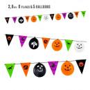 hurtownia Upominki & Artykuly papiernicze: girlanda na halloween (8 flag 18x26 cm + 5 balon