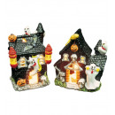 wholesale Gifts & Stationery: haunted house tealight holder 10x12 cm - 2 style